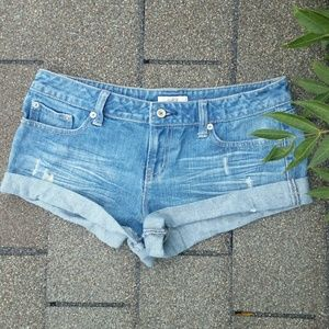 Pants - Rolled up Denim shorts